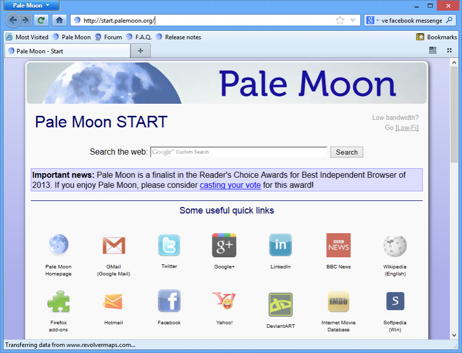 БраузерPale Moon