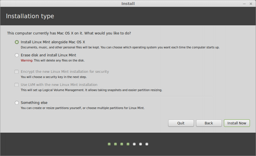 Linux Mint установка