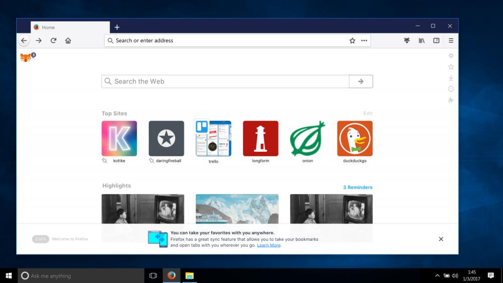 Mozilla Firefox для Windows