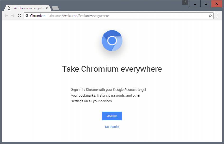 Браузер Chromium для Windows