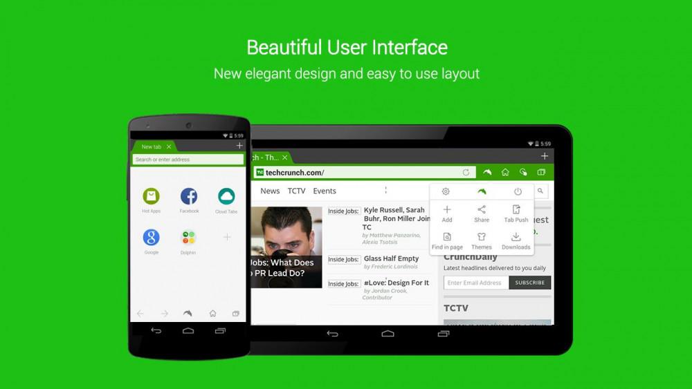 Браузер Dolphin для Android