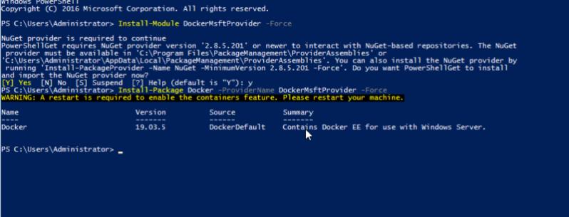 Установка Dcoker на Windows