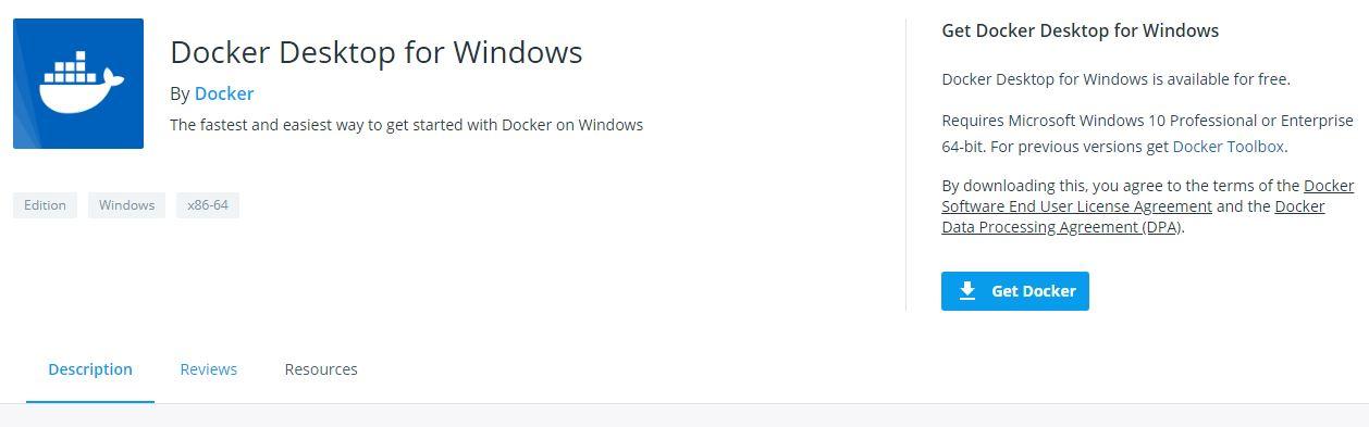 Установка Docker на Windows