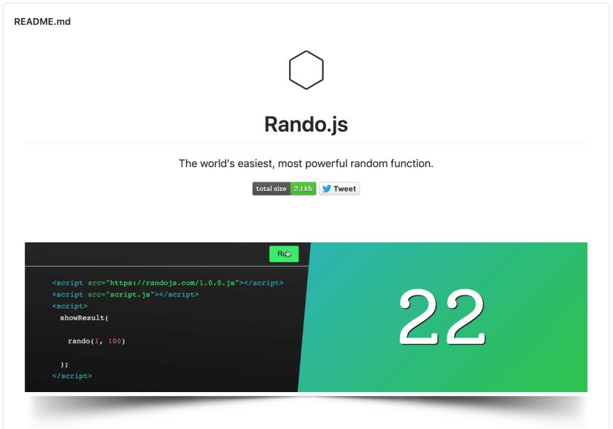 Rando.js - GitHub - README-файл