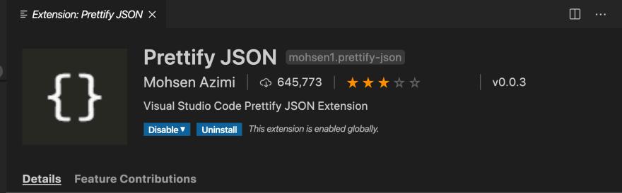 Prettify JSON