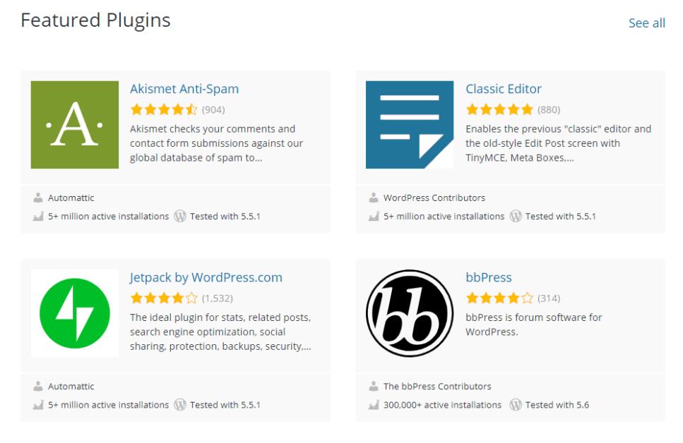 Wordpress плагины