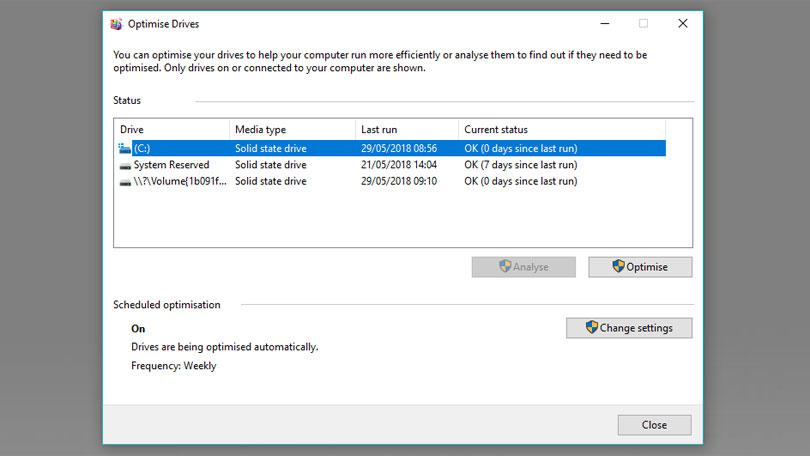 Windows дефрагментация